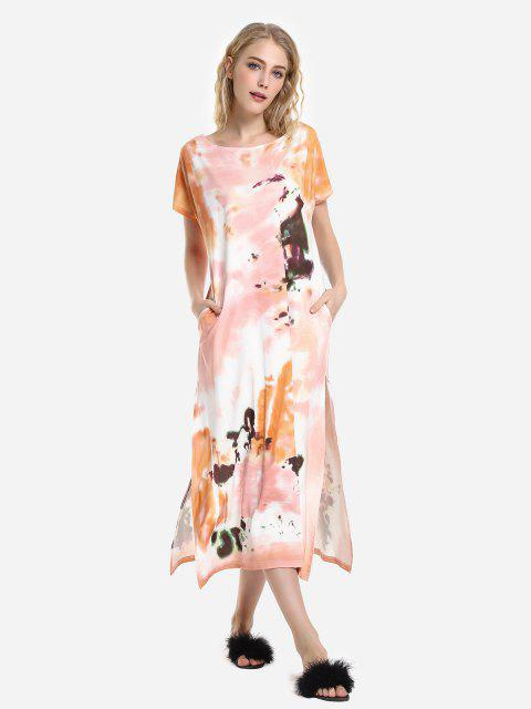 womens ZAN.STYLE Batwing Sleeve Dress - ORANGE L Mobile