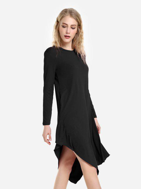 ZAN.STYLE Long Sleeve Dress - 黑色 M Mobile
