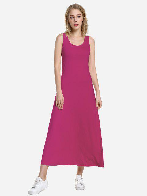 outfits ZAN.STYLE Round Neck Vest Dress - PURPLISH RED S Mobile