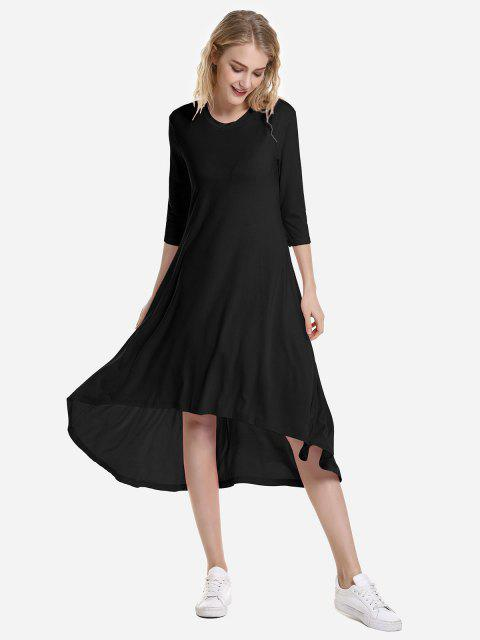 sale ZAN.STYLE High Low Hem Dress - BLACK XL Mobile