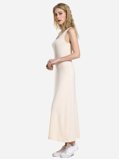 outfits ZAN.STYLE Round Neck Vest Dress - APRICOT XL Mobile