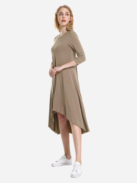 ZAN.STYLE High Low Hem Dress - 熱奶咖啡 M Mobile
