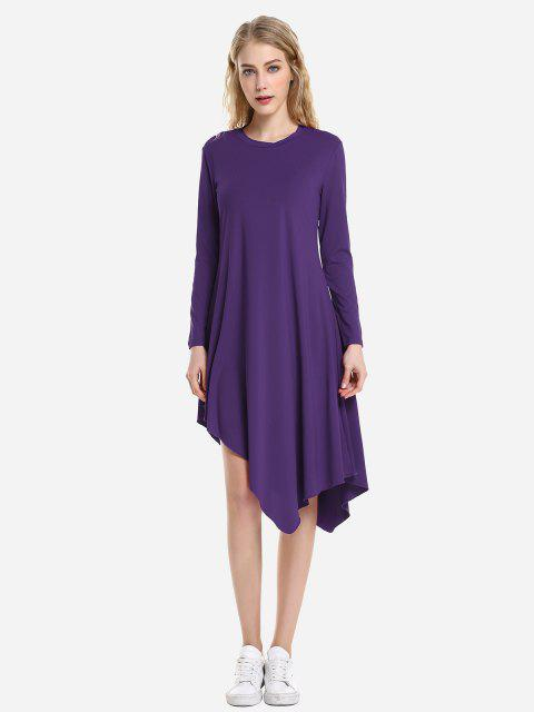 trendy ZAN.STYLE Long Sleeve Dress - CONCORD M Mobile