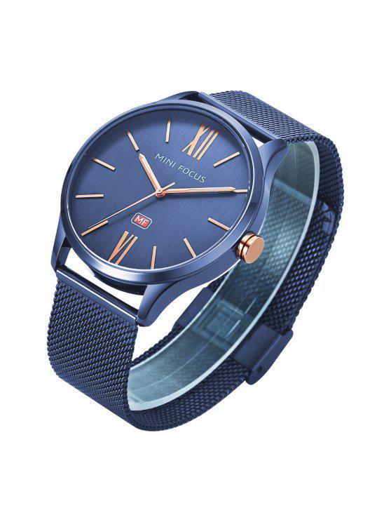 efb1e90d0f9 RELÓGIO MINI FOCUS Mf0018G 4316 Relógio Masculino com Faixa de Aço - Azul