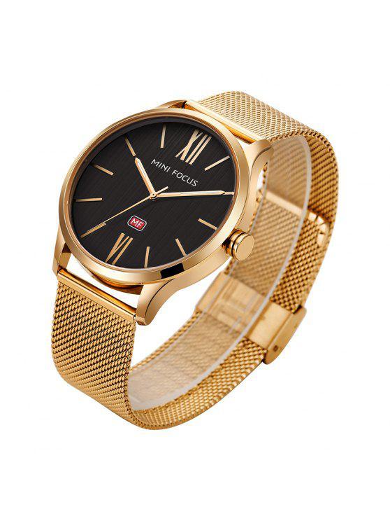 MINI FOCUS Mf0018G 4316 Montre Masculin Bracelet en Acier à la Mode - Or