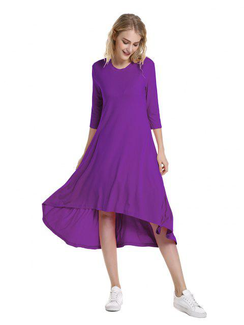 outfits ZAN.STYLE High Low Hem Dress - PURPLE M Mobile