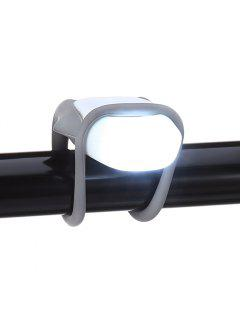 Water-resistant Silicone Bicycle Front Light Bike Safety LED Lamp - White