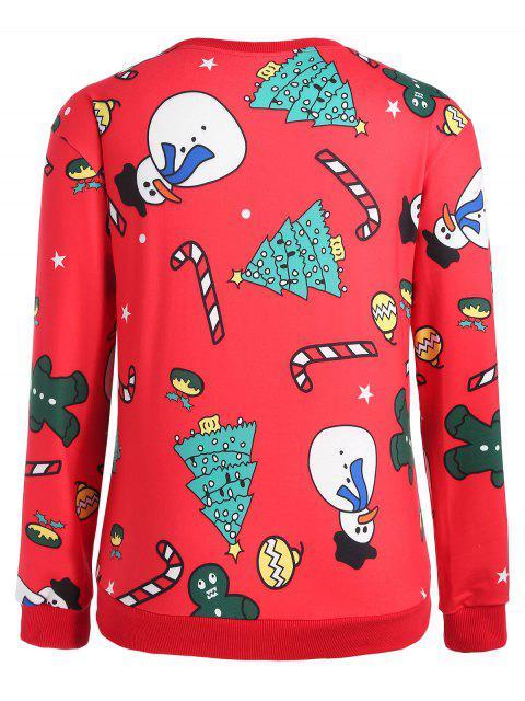 Sudadera de muñeco de nieve Navidad de tallas grandes - Rojo 3X Mobile