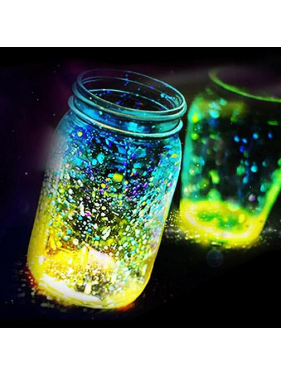 chic Luminous Particle Fluorescent Sand For Home Decoration / Party - GREEN