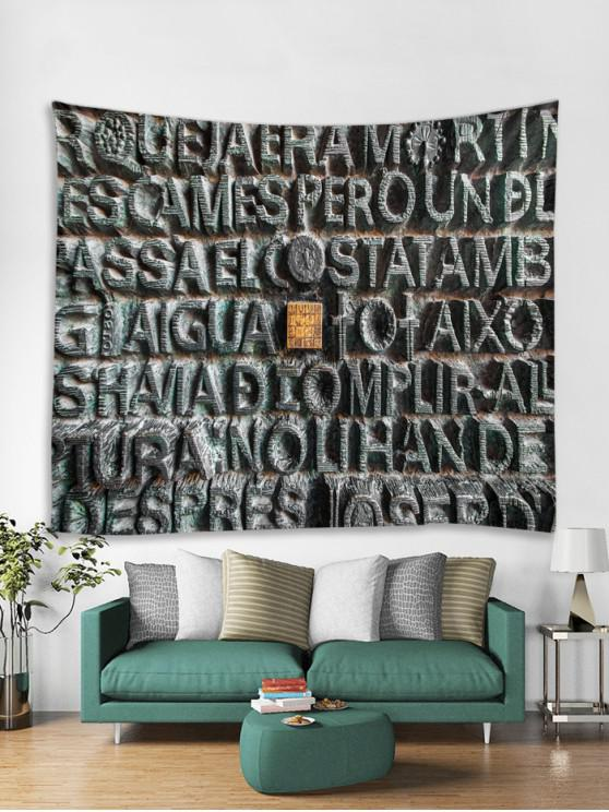 outfits Stone Letters Print Tapestry Wall Hanging Decoration - MULTI W91 X L71 INCH