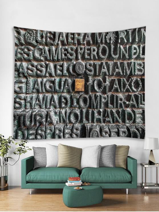 Tapisserie Art Décoration Murale Pendante Lettre et Pierre Imprimés - Multi Largeur 91 x Longueur 71 pouces