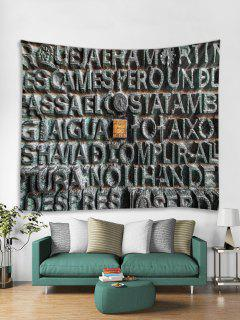 Stone Letters Print Tapestry Wall Hanging Decoration - Multi W91 X L71 Inch