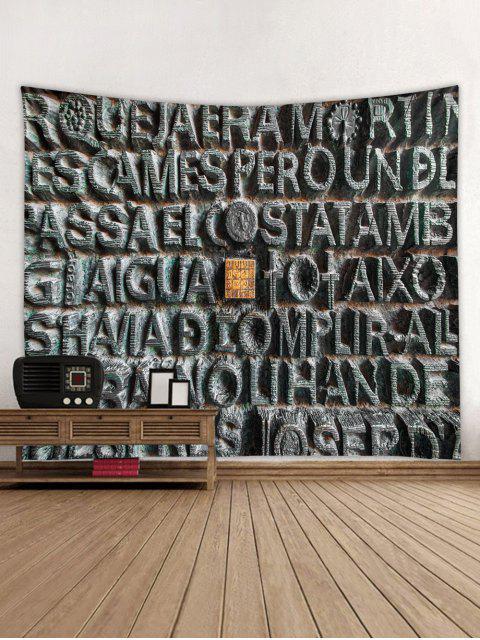 Stone Letters Print Tapeçaria Tapeçaria - Multi W91 x L71 polegadas Mobile