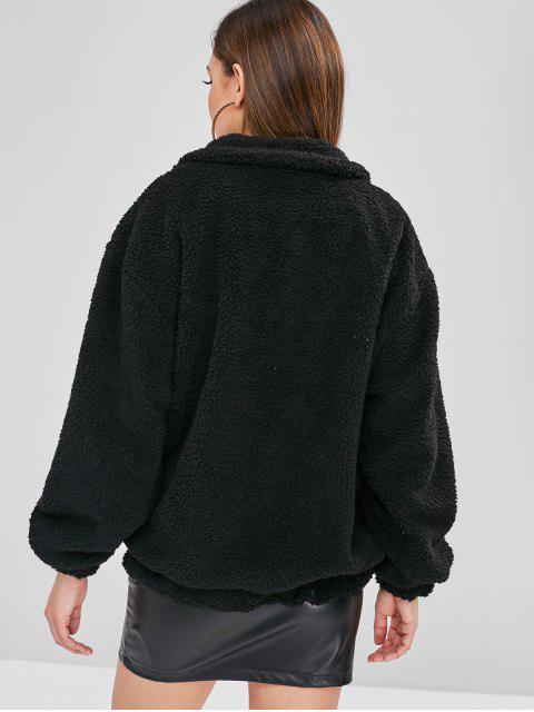 Manteau d'Hiver Zippé Fourré - Noir L Mobile