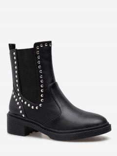 Mid Calf Chelsea Boots With Studs - Black Eu 38
