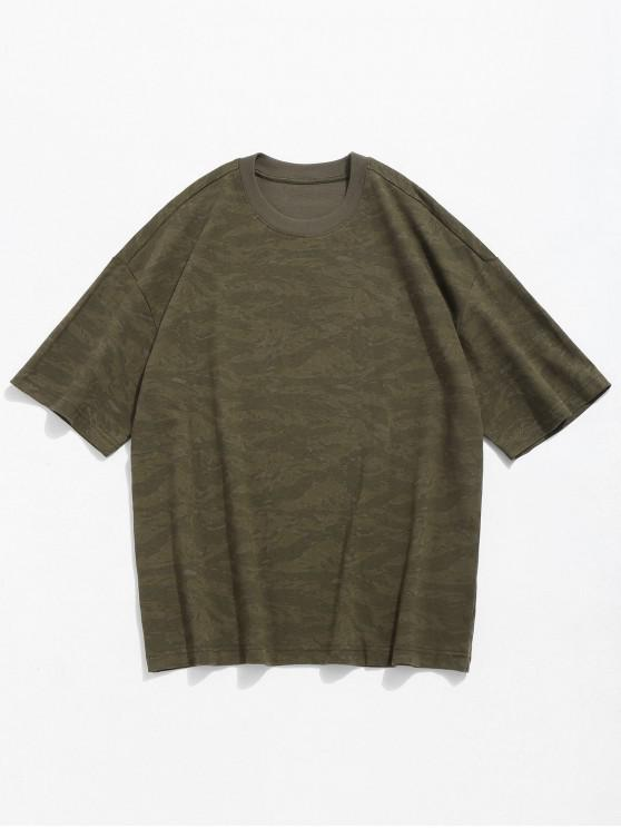 297be06a 24% OFF] 2019 Camo Print Round Neck T-shirt In CAMOUFLAGE GREEN | ZAFUL