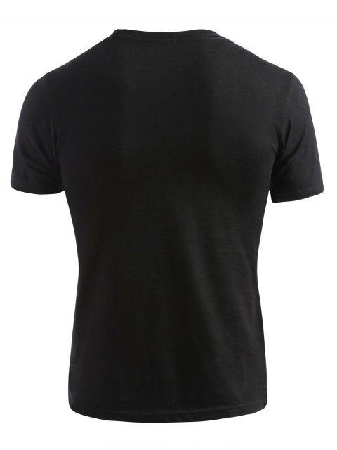 fashion Short Sleeve Miami T-shirt - BLACK 2XL Mobile
