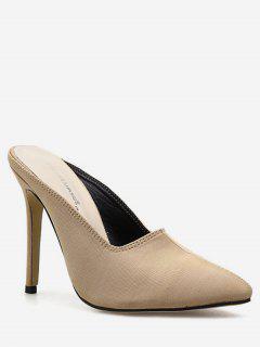 Pointed Toe Stiletto Heel Slingback Pumps - Apricot Eu 37
