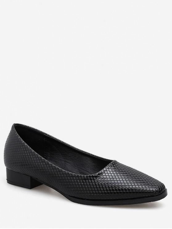 ee90fd488f30 39% OFF  2019 Snake Print Square Toe Shoes In BLACK