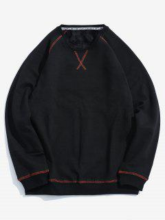 Seam Detail Fleece Sweatshirt - Black S