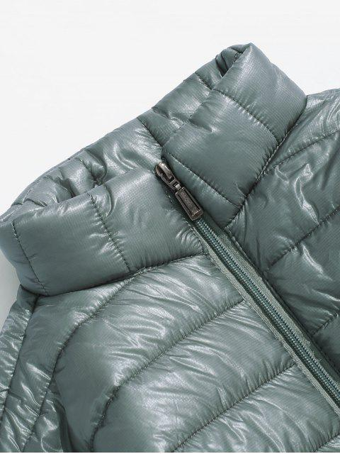 new Solid Padded Lightweight Jacket - GRAY CLOUD L Mobile