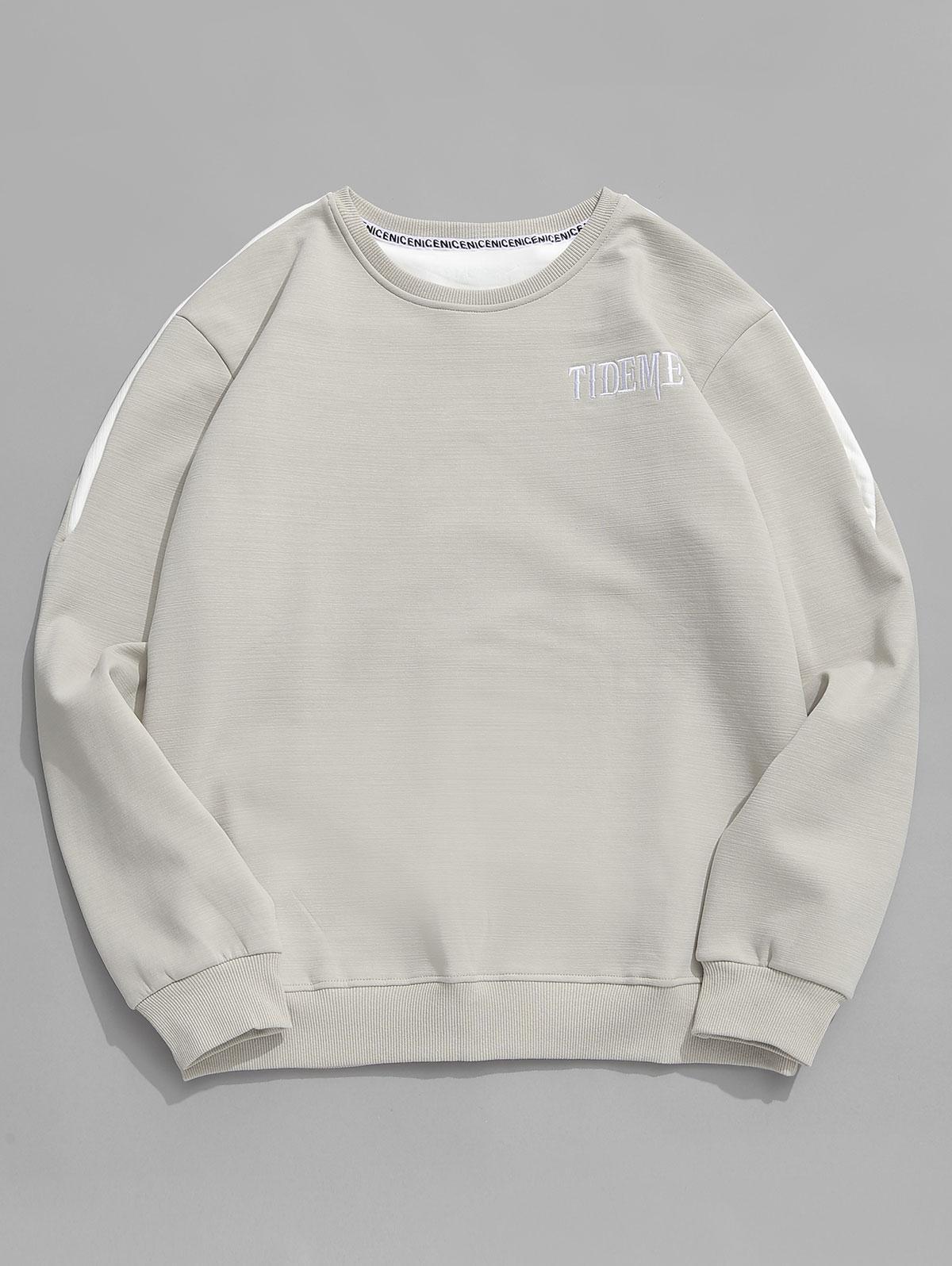 Contrast Letter Fleece Sweatshirt фото