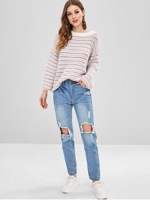 Boyfriend jeans destruidos - Azul Claro M Mobile