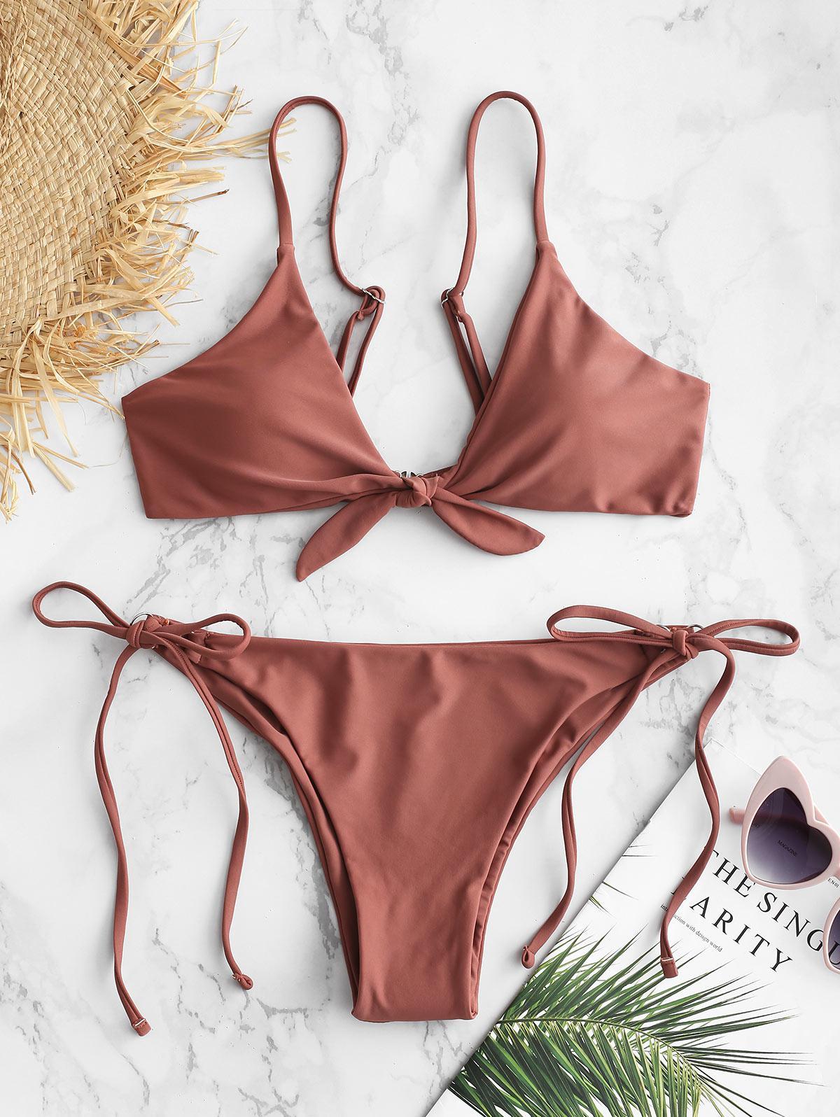 ZAFUL Knotted String Bikini Set thumbnail