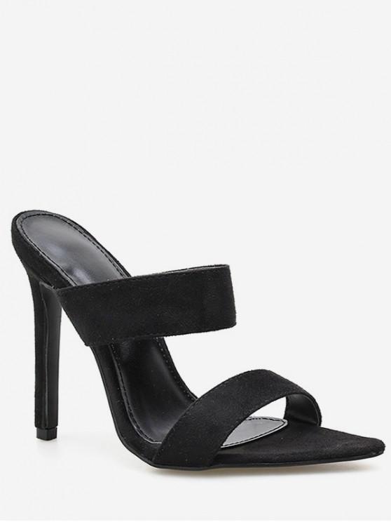 Snake Print Stiletto Heel Slingback Sandals - Nero EU 36