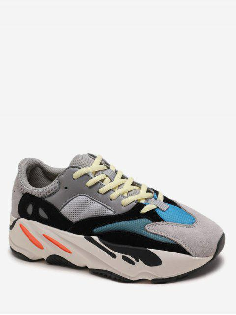 outfits Breathable Color Block Platform Sneakers - PLATINUM EU 38 Mobile