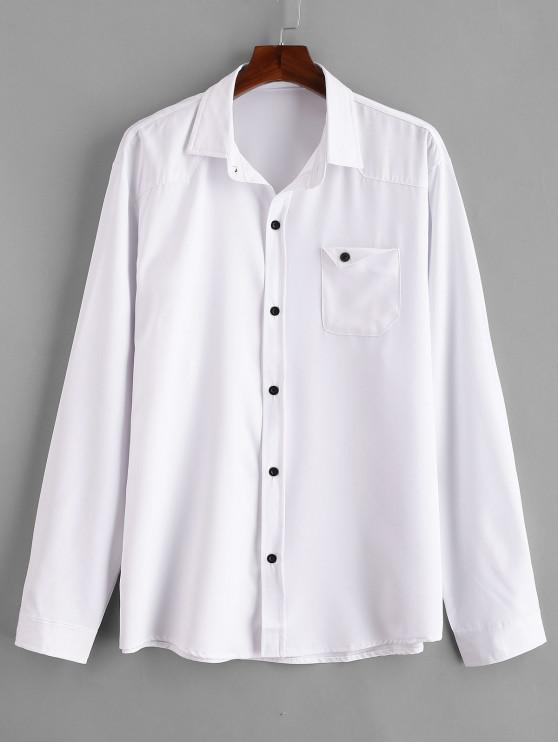 Brusttasche aus festem Hemd - Weiß 2XL