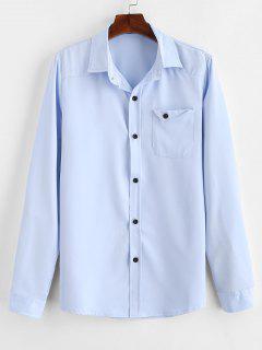 Chemise Avec Poche Poitrine - Bleu Léger  2xl