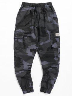 Pantalon De Jogging Camouflage Avec Lettre - Camouflage Bleu Marine Xl