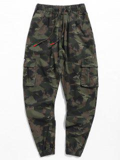 Camo Letter Jogger Pants - Army Green 2xl