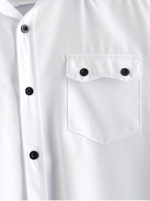 Chemise Décontractée avec Poche à Rabat - Blanc L Mobile