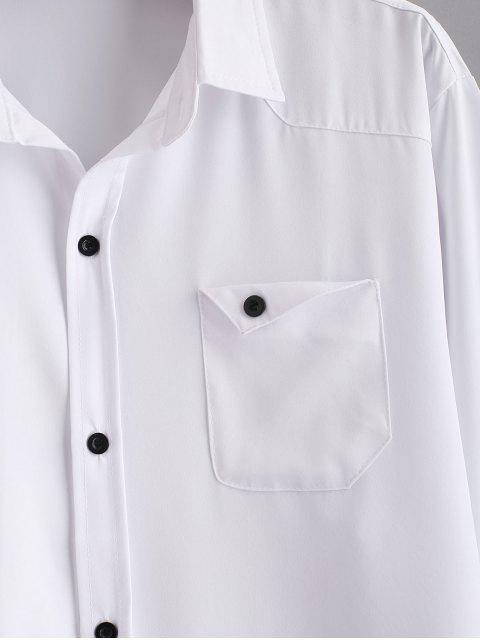 shops Chest Pocket Solid Shirt - WHITE 2XL Mobile