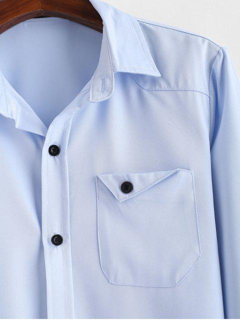 Chemise avec Poche Poitrine - Bleu Léger  XL Mobile