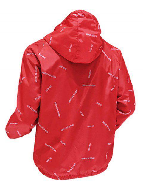 Veste Lettre Imprimée à Séchage Rapide - Rouge 2XL Mobile