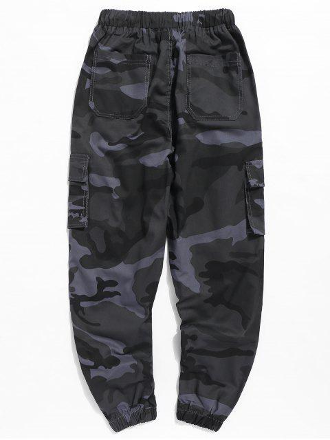 Pantalon de Jogging Camouflage avec Lettre - Camouflage Bleu Marine M Mobile
