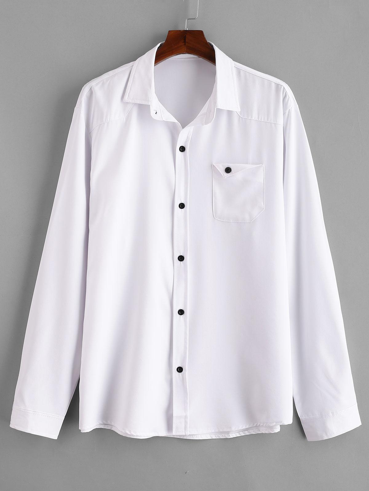 Chest Pocket Solid Shirt