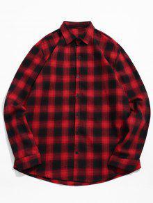 قميص الترتان طباعة عادية - أحمر 2xl