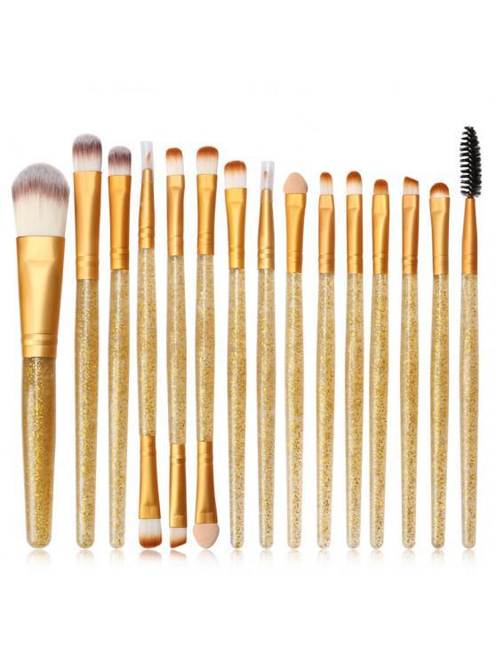 MAANGE MAG5735 Maquiagem Pincel Conjunto Flash Broca Lidar Com Maquiagem Ferramenta - Marrom Dourado