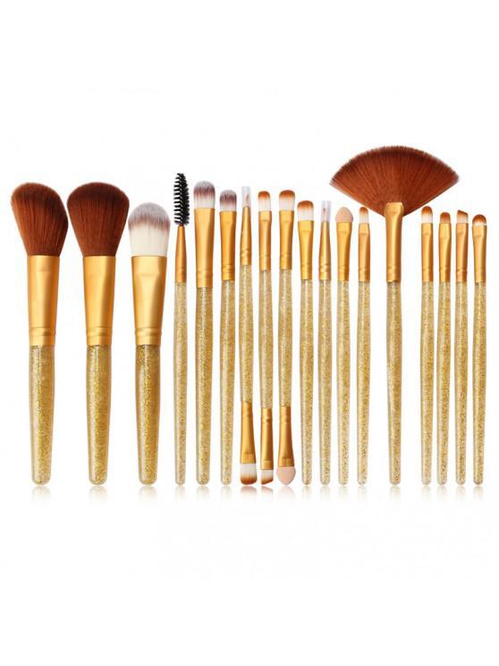 fashion MAANGE MAG5734 Flash Diamond Makeup Brush Set Make Up Tool - GOLD