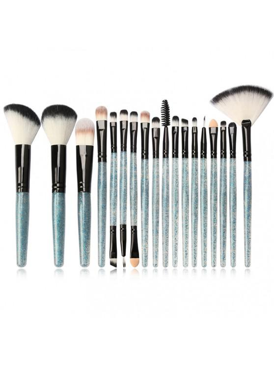 chic MAANGE MAG5734 Flash Diamond Makeup Brush Set Make Up Tool - BLUE GRAY