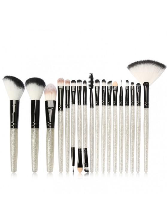 MAANGE MAG5734 Flash Diamond Maquiagem Jogo de escova Make Up Tool - Branco