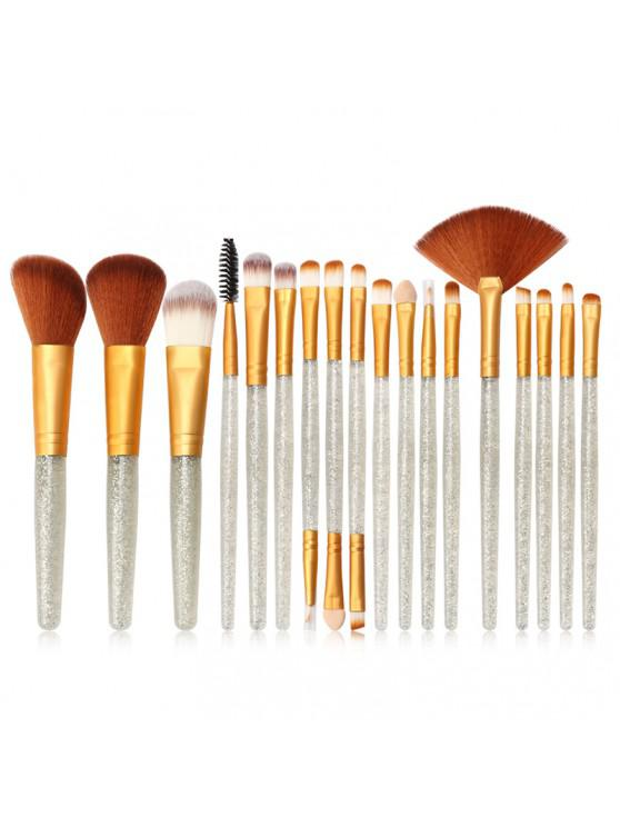 MAANGE MAG5734 Flash Diamond Maquiagem Jogo de escova Make Up Tool - Platina