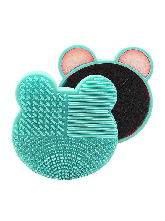 outfit MQ003 Makeup Brush Sponge Dry Wet Easy Quick Cleaning Special Tools - LIGHT AQUAMARINE
