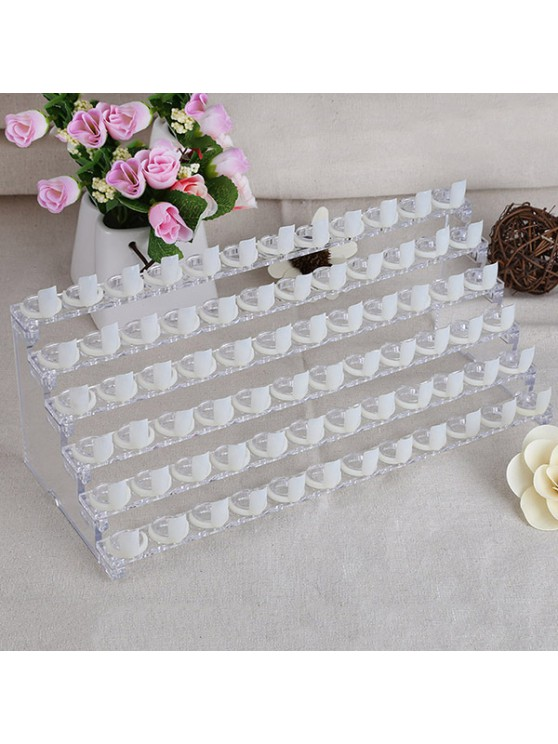 latest 6 Layer 72 Grid Nail Polish Display Stand - TRANSPARENT