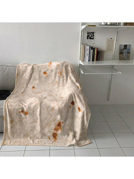 buy Child Soft Warm Round Tortilla Blanket Double Layer Throw - BATTLESHIP GRAY 122X122CM