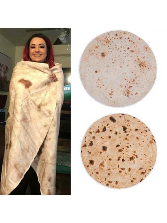 best Warm Soft Tortilla Blanket Pattern Plush Blanket - BROWN SUGAR